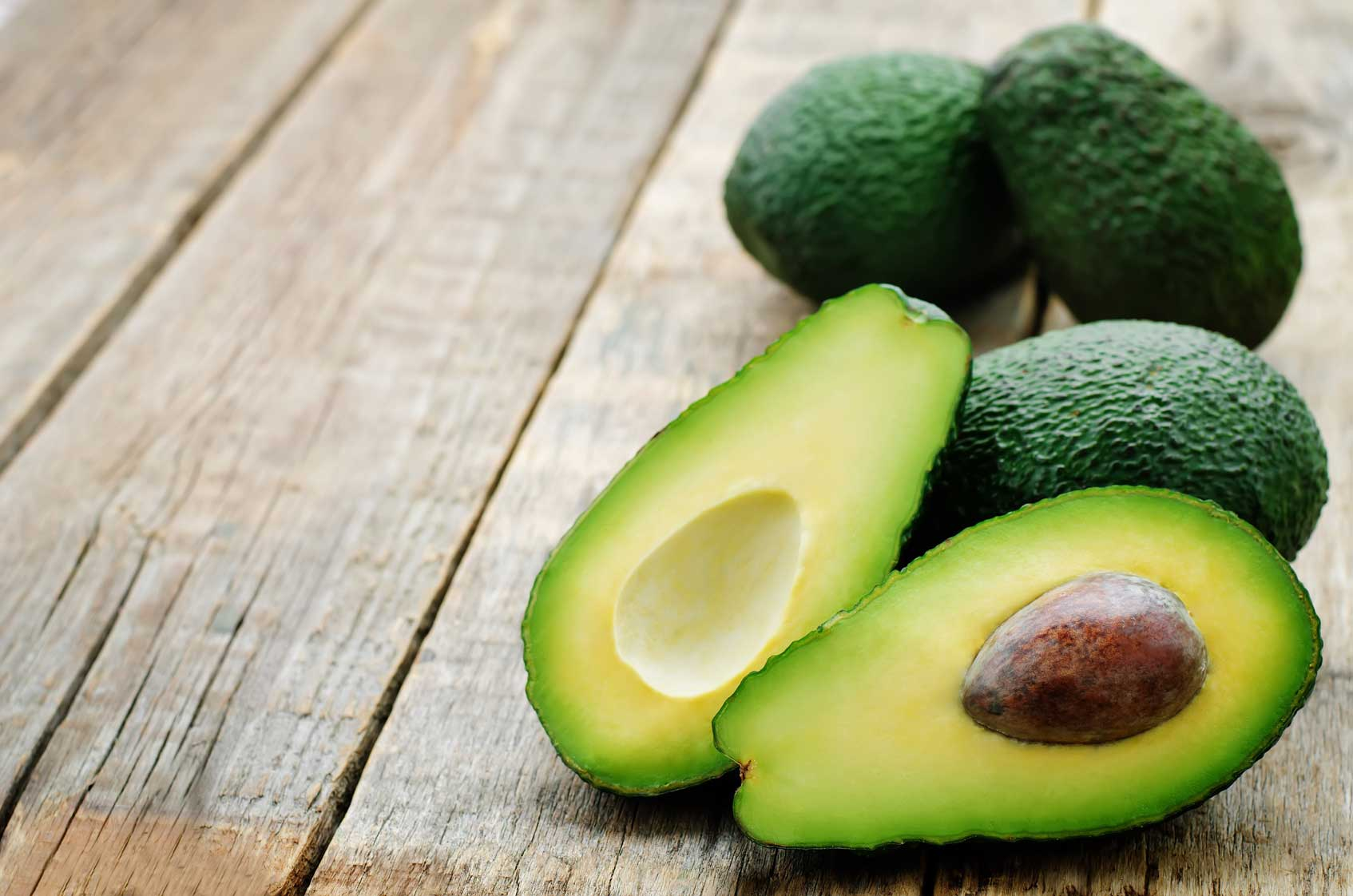 what goes well with avocados cut in half